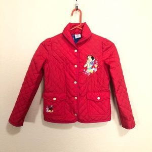 Disney's Snow White Size 9/10 Girls Quilted Coat